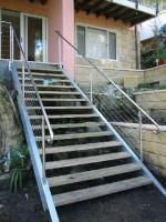 Mirror and Grain Finish Handrails
