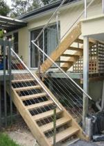 Mirror & Grain Finish Handrails